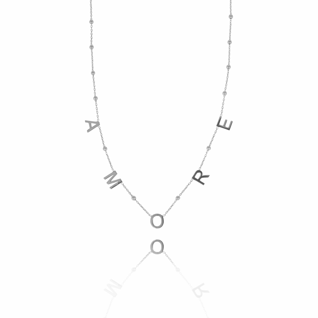 Zilveren Rosary Amore ketting