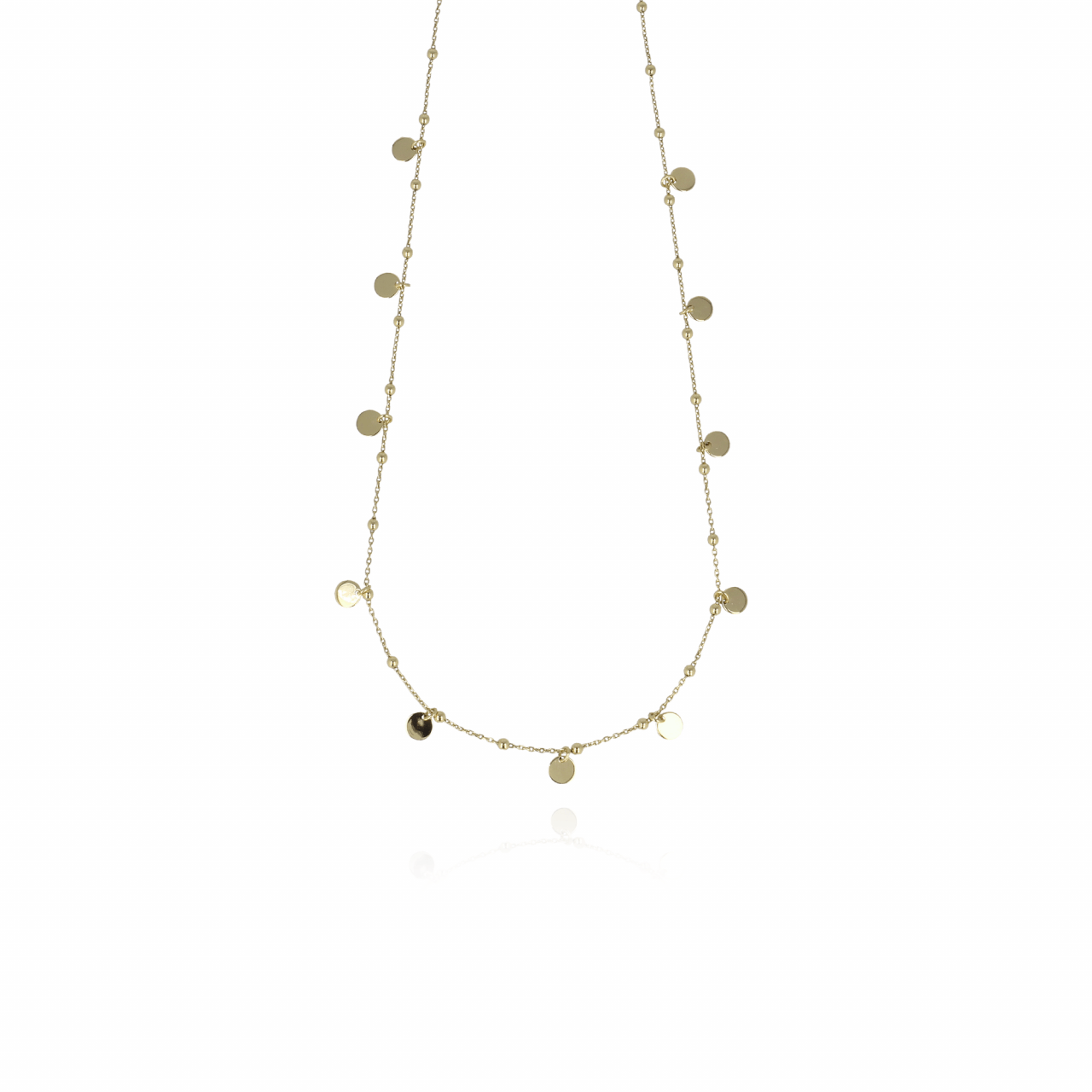 Golden Rosary Charms necklace