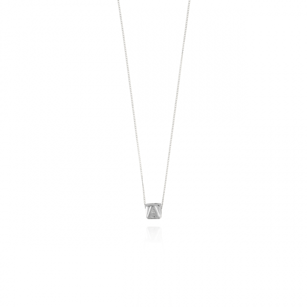 Golden initial Cube necklace