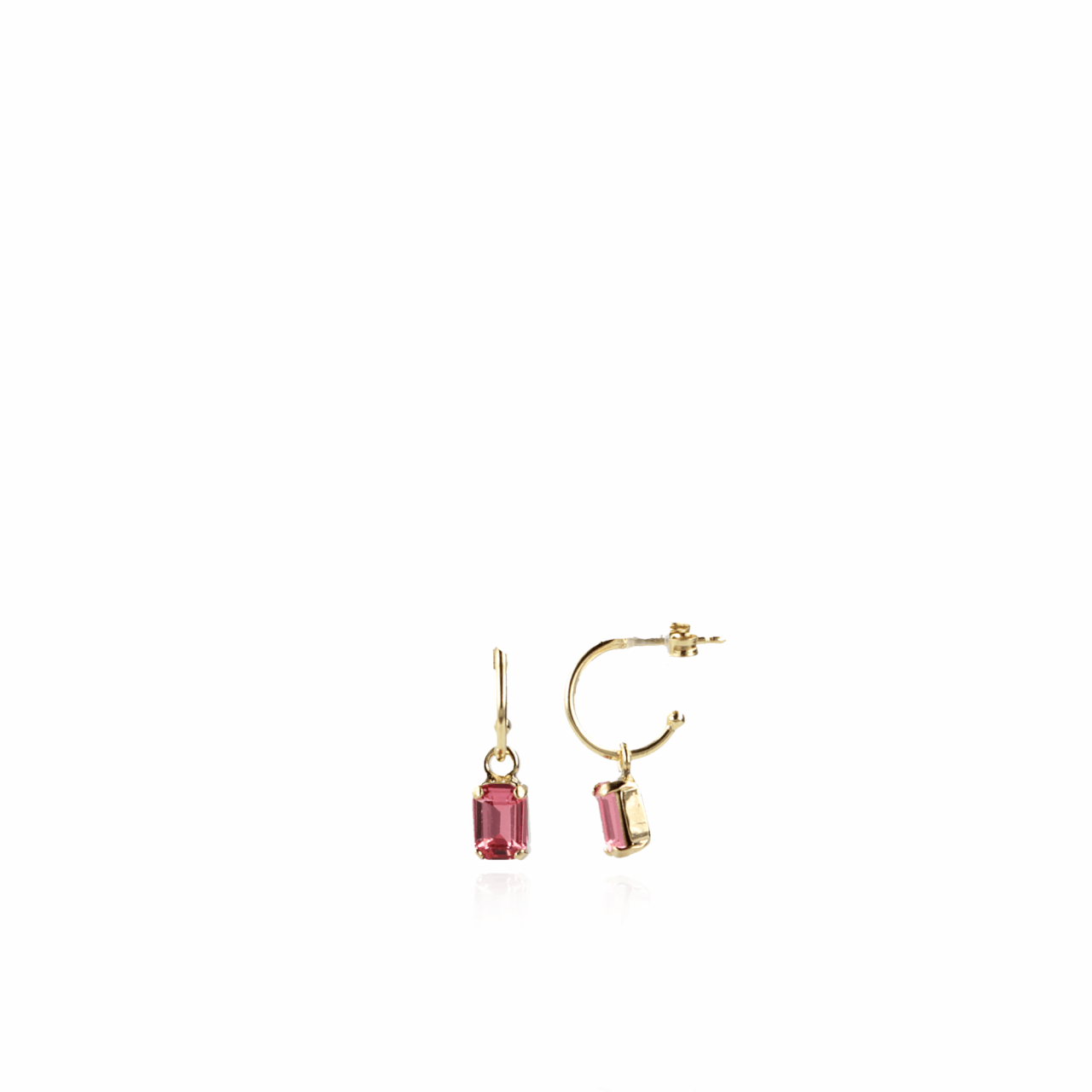 Rose swarovski may earrings