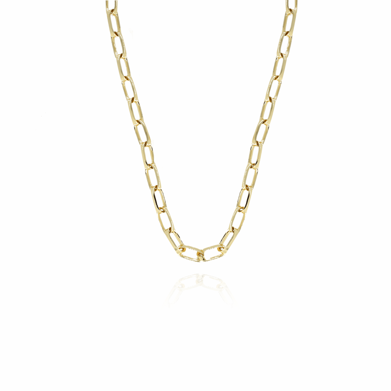Golden closed forever L chain necklace