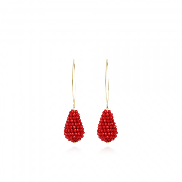 Amy glassberry cone S maxi red oorbellen