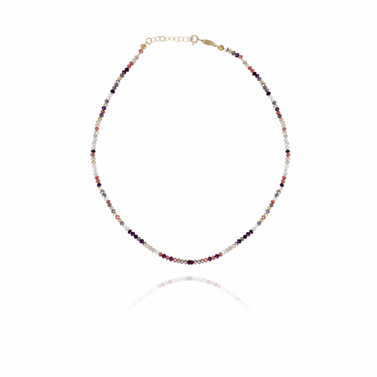 Mixed purple one of a kind ketting