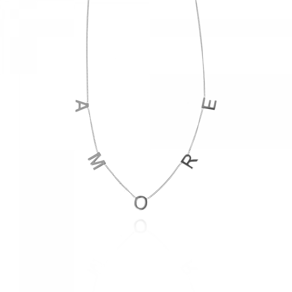 Silver Gourmet Amore necklace