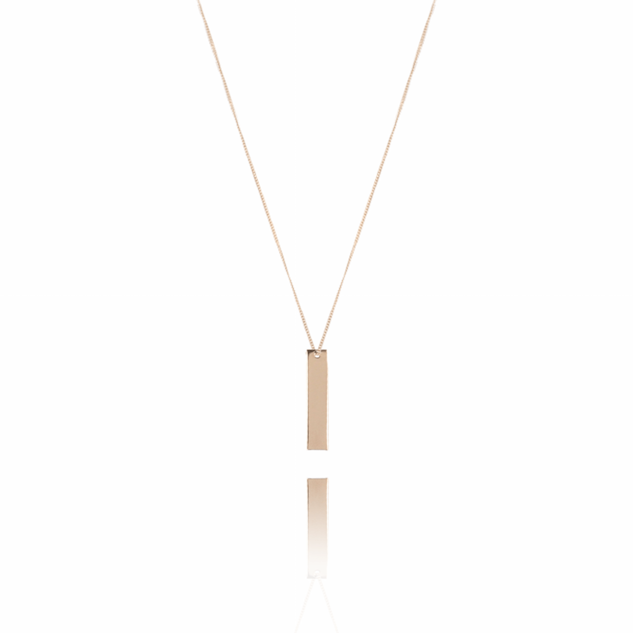 Rosé Vertical Bar L ketting