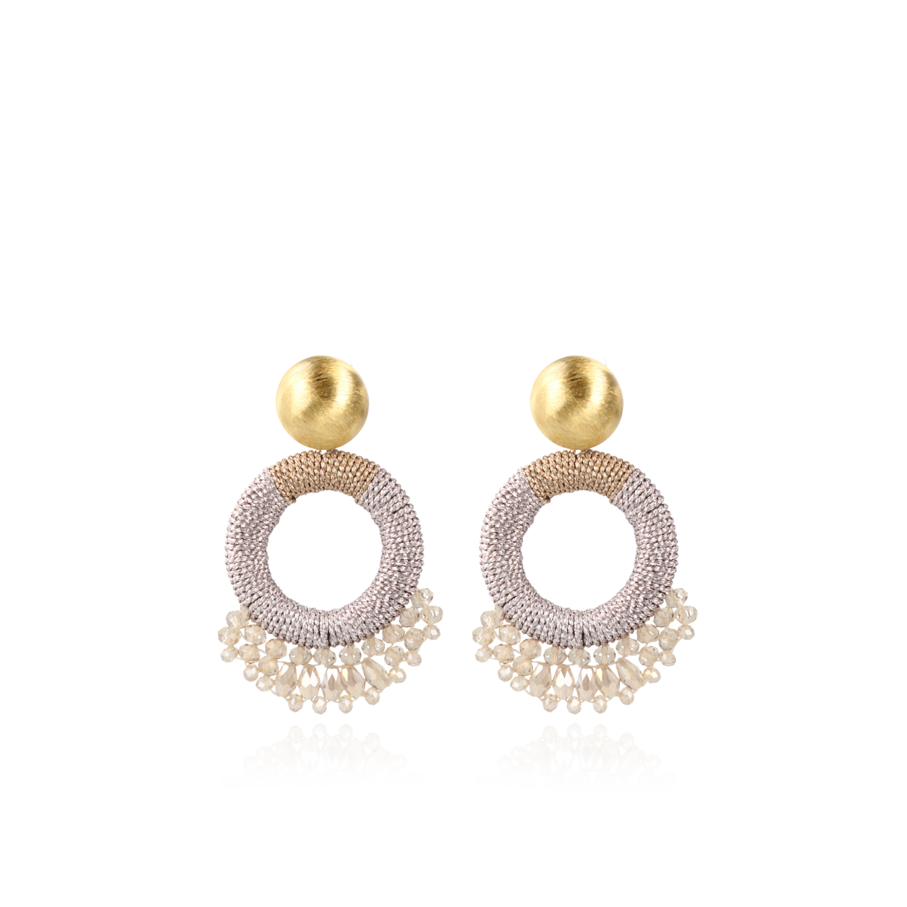 Champagne Earrings Ring Drops Combi S
