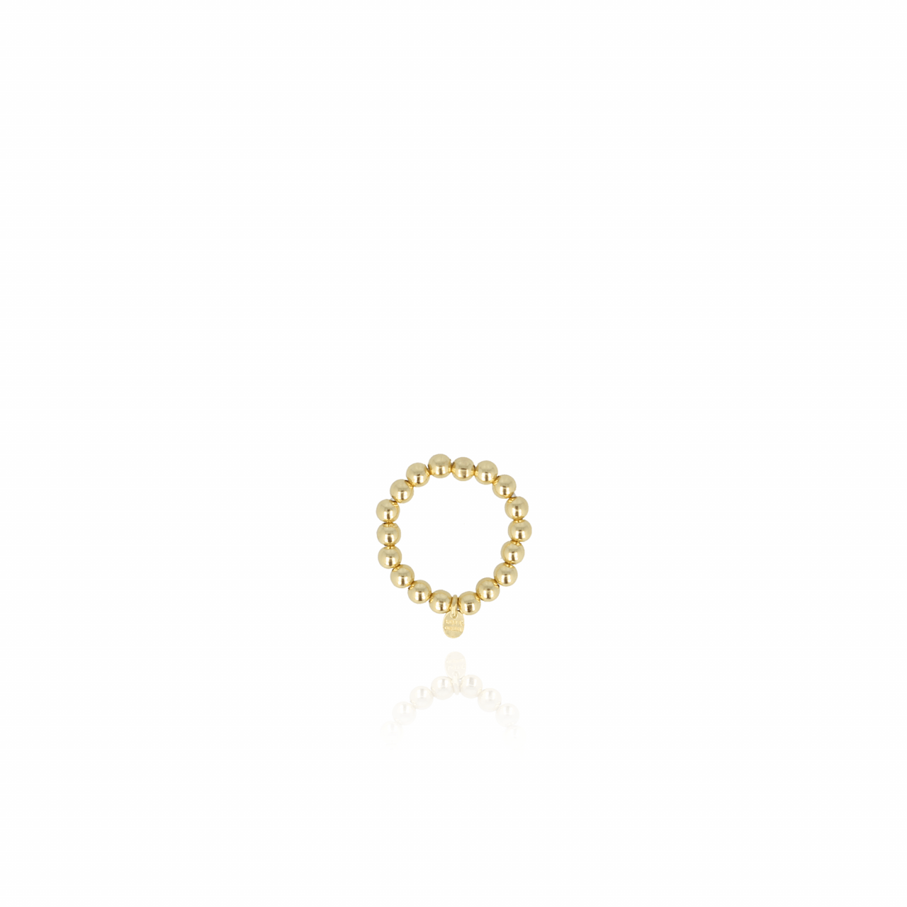 Elastic ball M Ring Gold