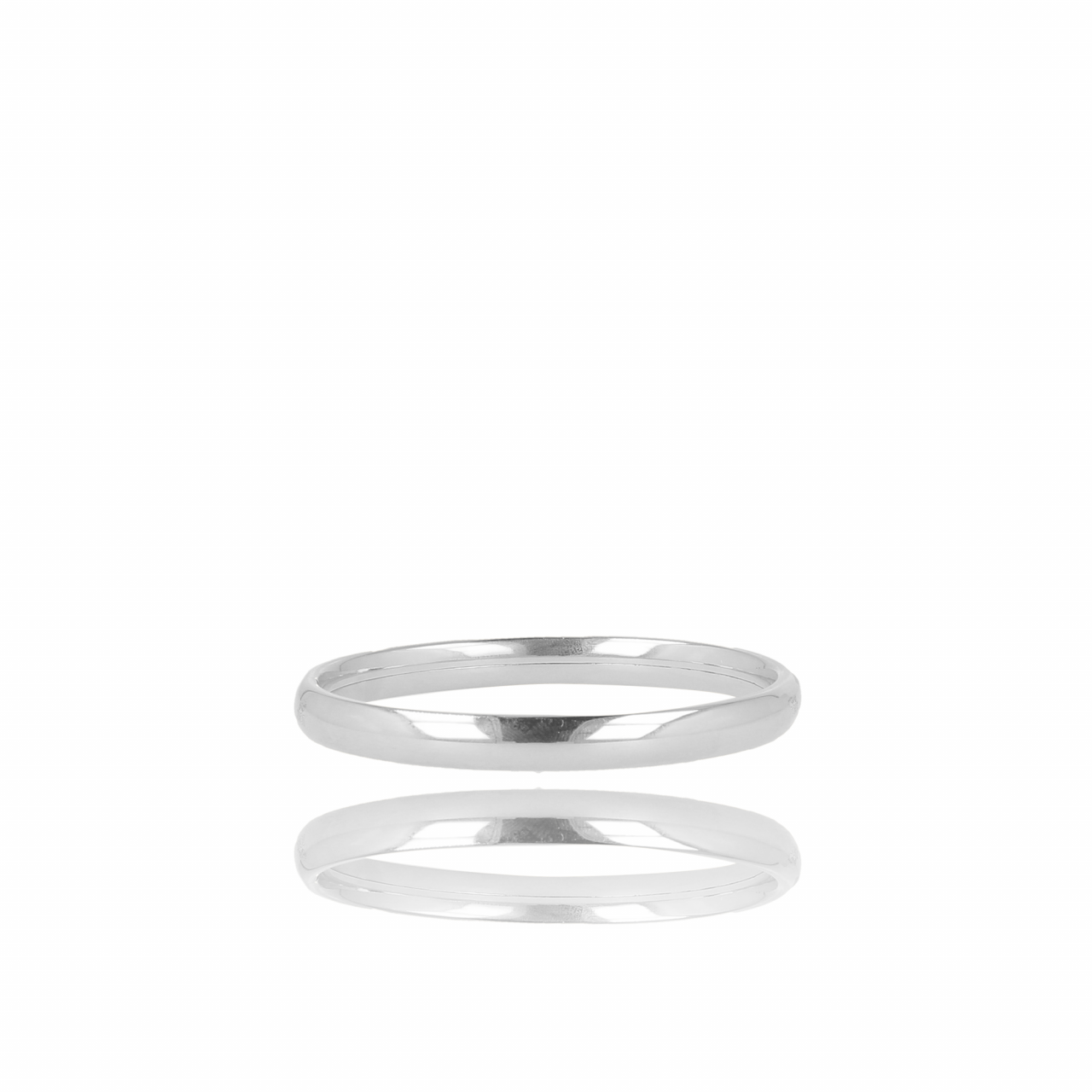 Zilveren closed forever M armband