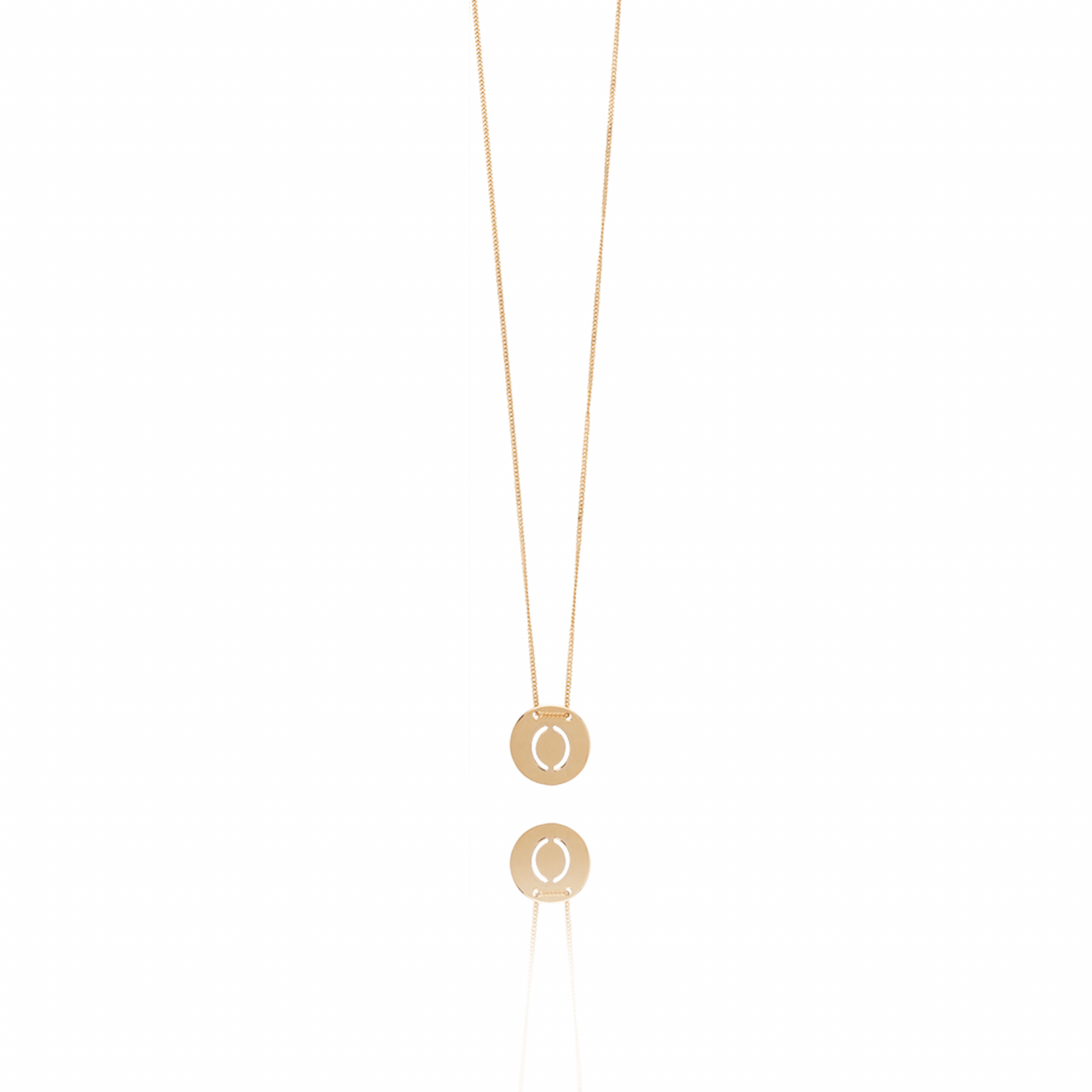 Rosé Golden Initial necklace large