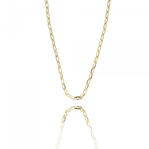 Golden closed forever S chain necklace