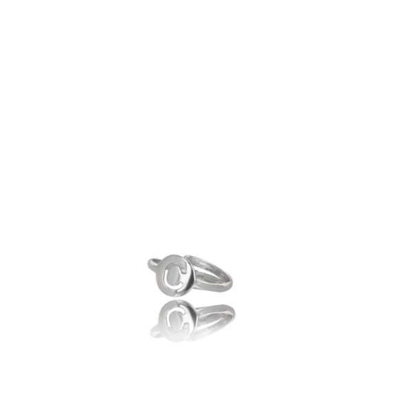 Silver Initial ring