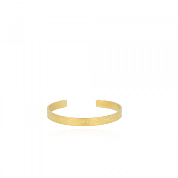 Golden Quote S bangle
