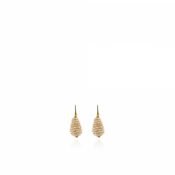 Champagne Earrings Glassberry Cone XS