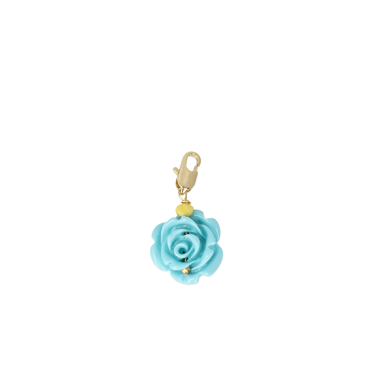 Blauwe roos small pendant