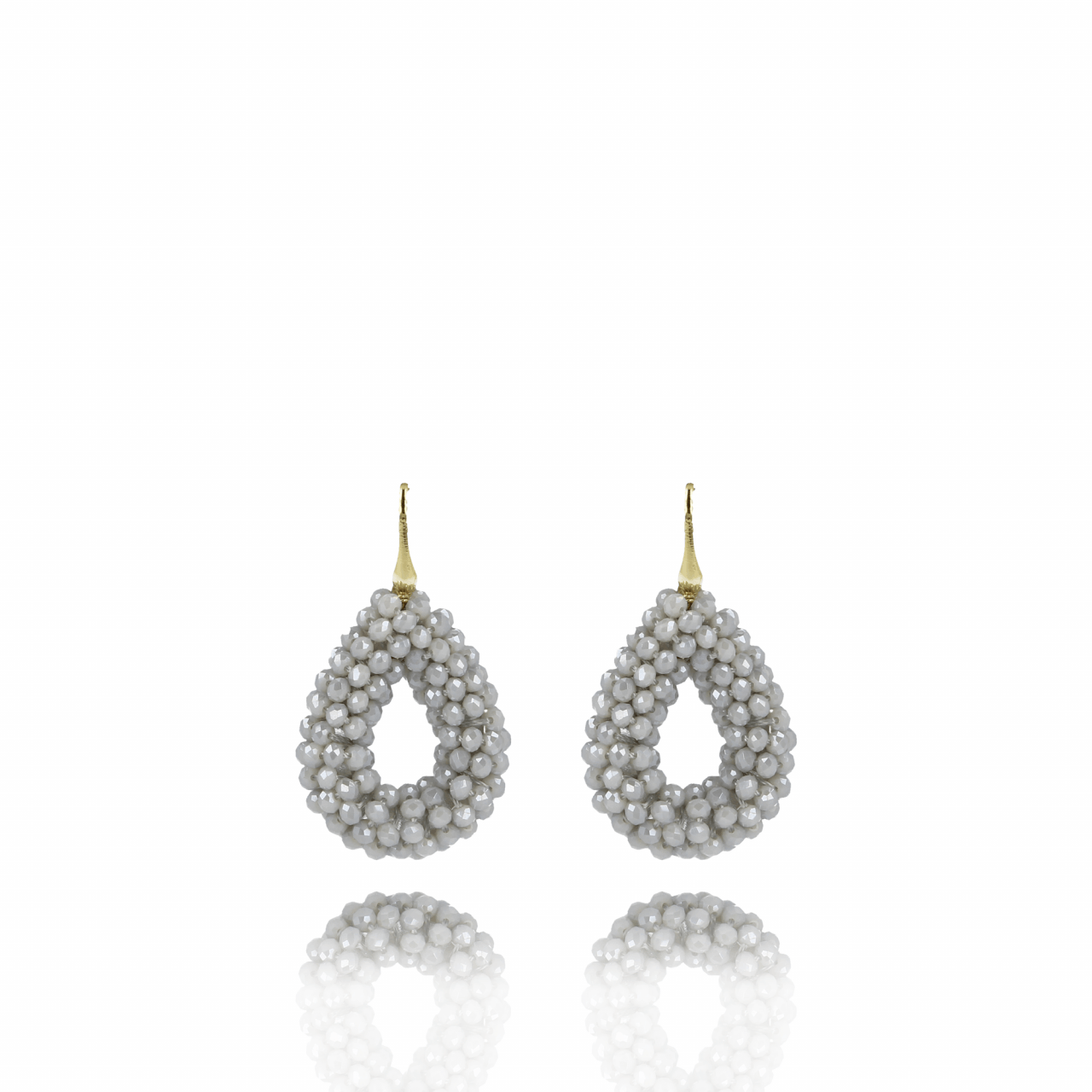 Light-grey glassberry drop S earrings