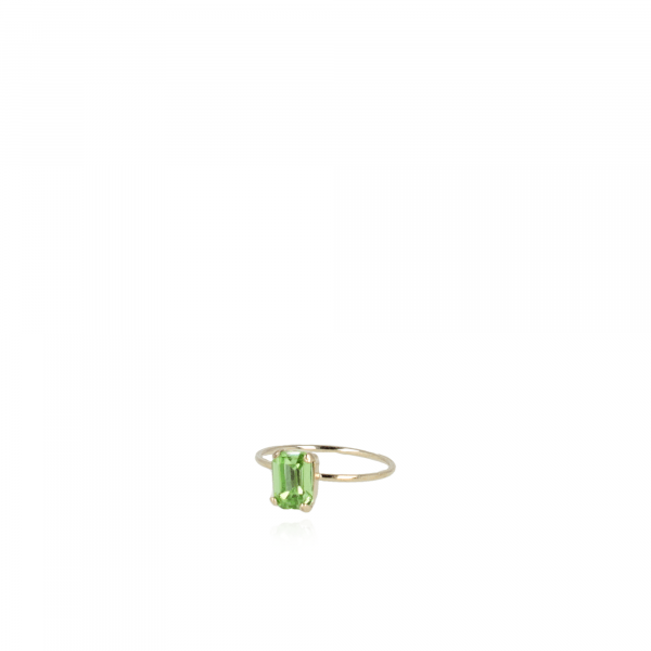 Gigi Ring Swarovski Square Green