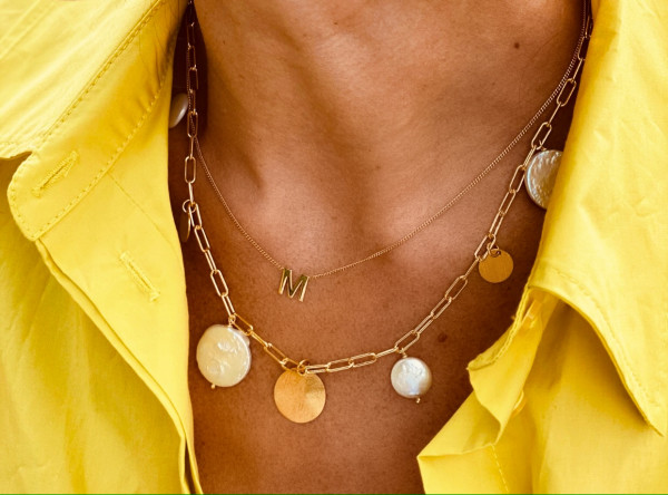 Closed forever pearls and circles necklace