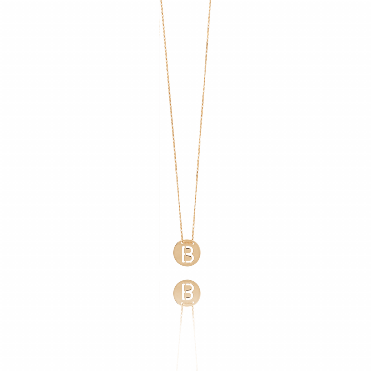 Rose Golden Initial necklace large