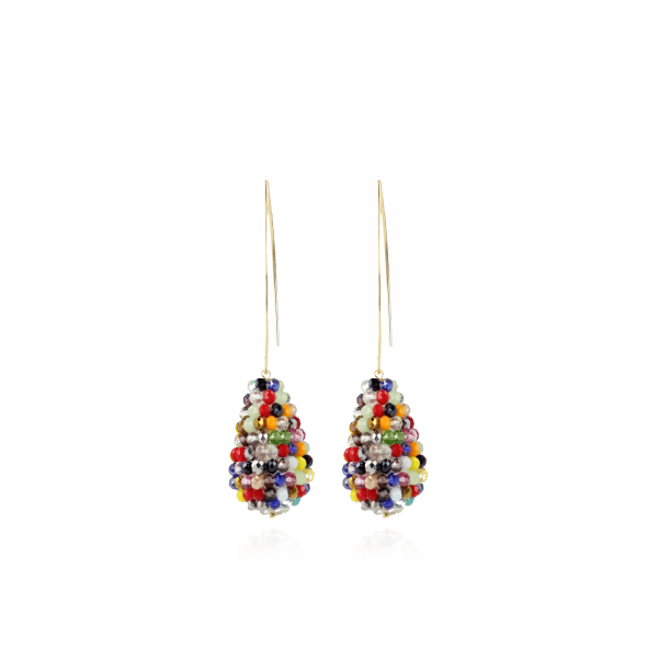 Beau Glassberry Cone S Dark Multicolor oorbellen