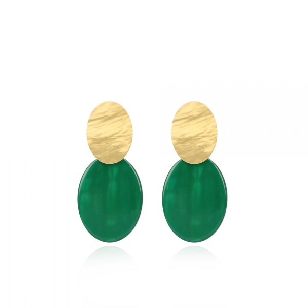 Resin Closed Oval S Moss Green