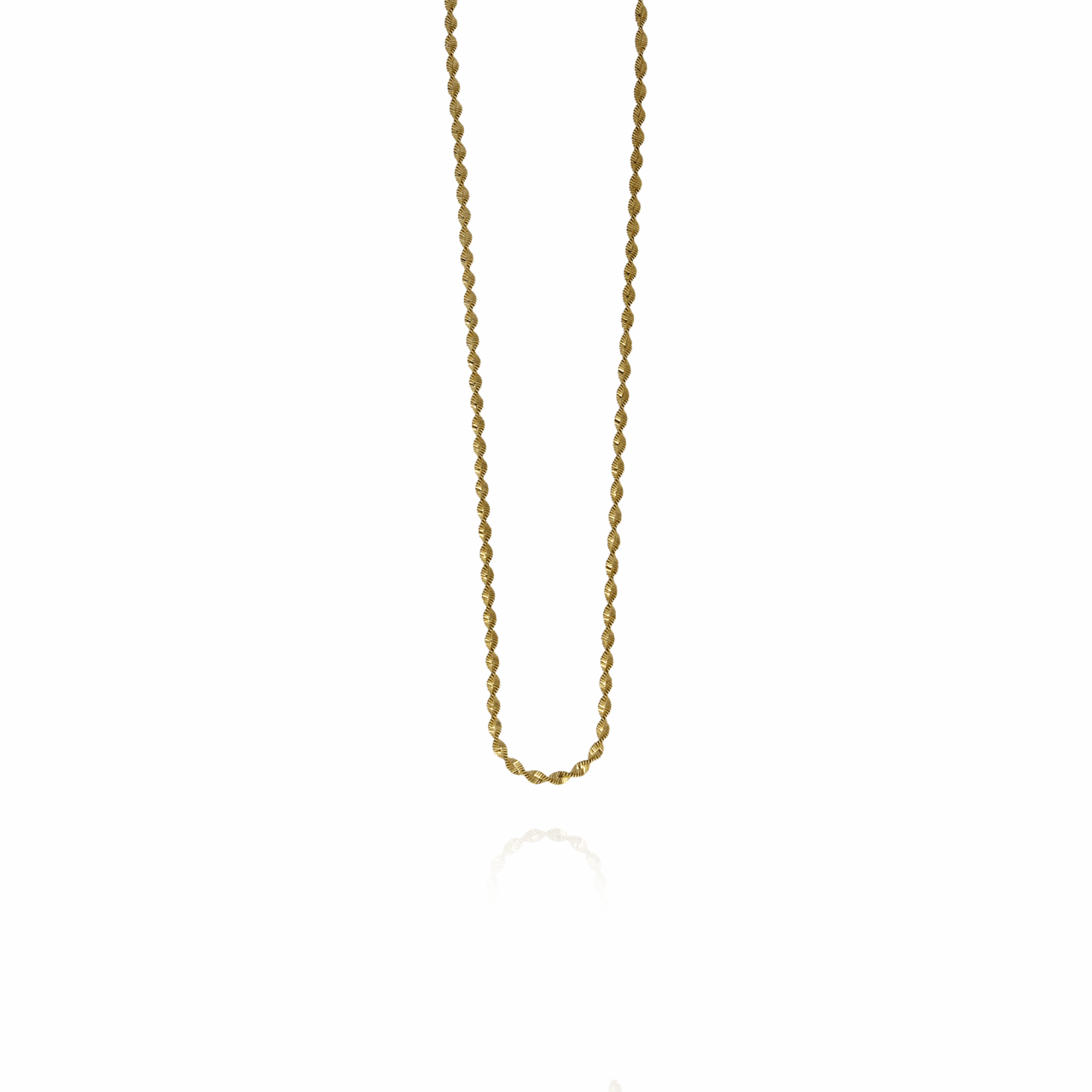 Gouden twisted chain ketting