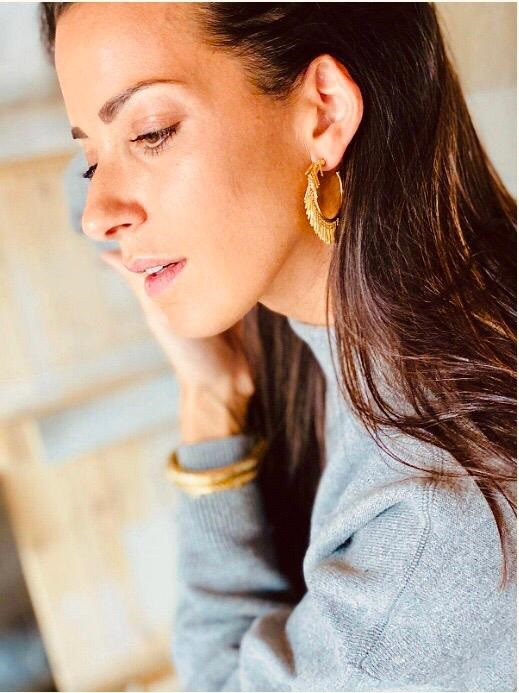 Golden classic creole vibes earrings