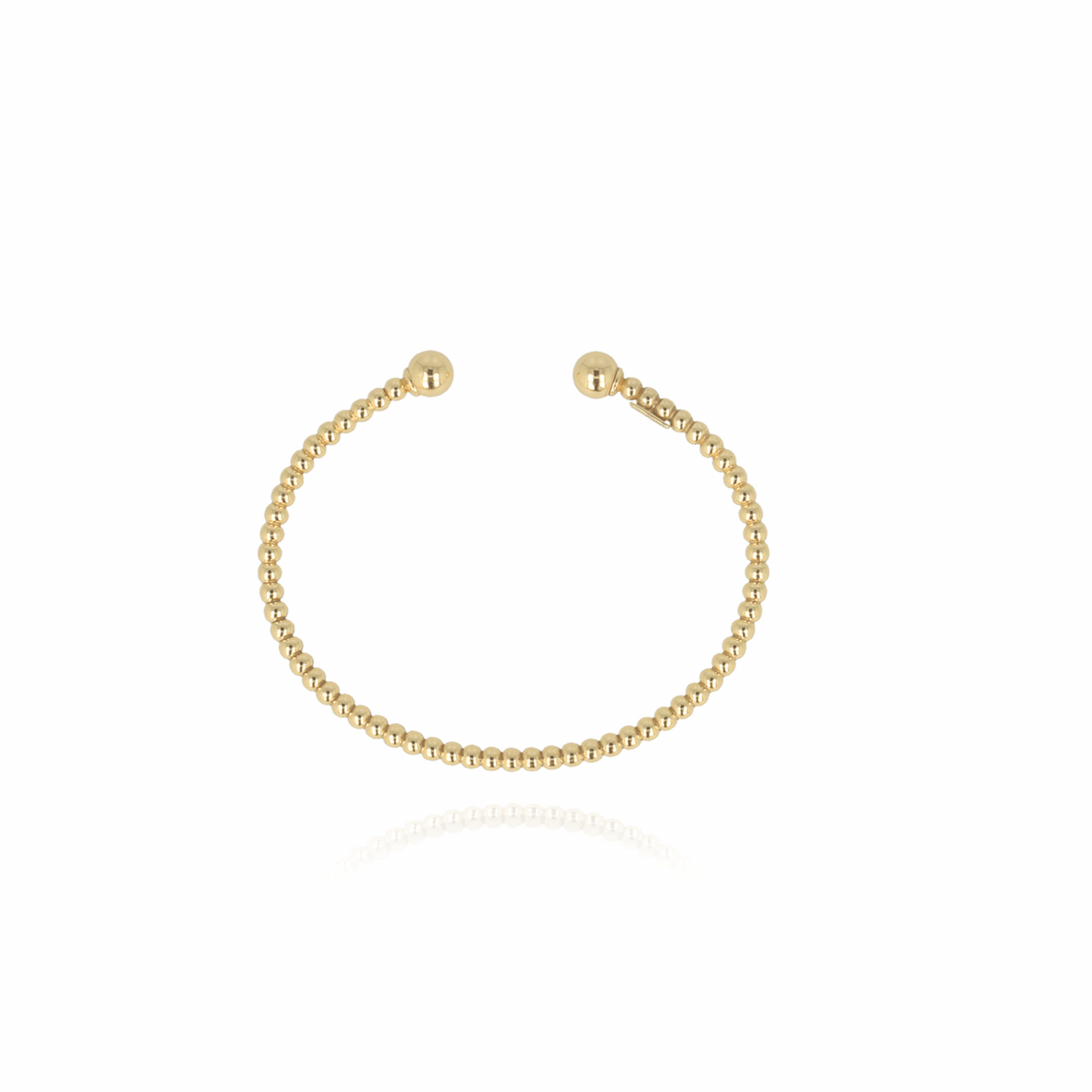 Golden cannonball bangle