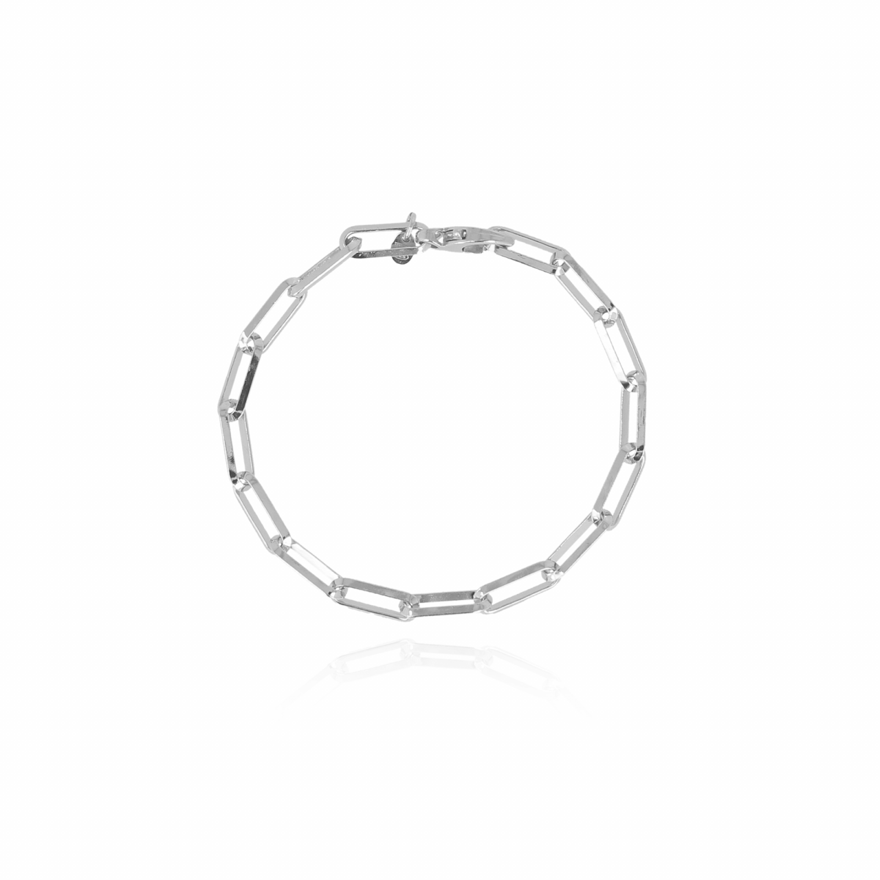Silberfarbenes Closed-Forever M-Glieder-Armband