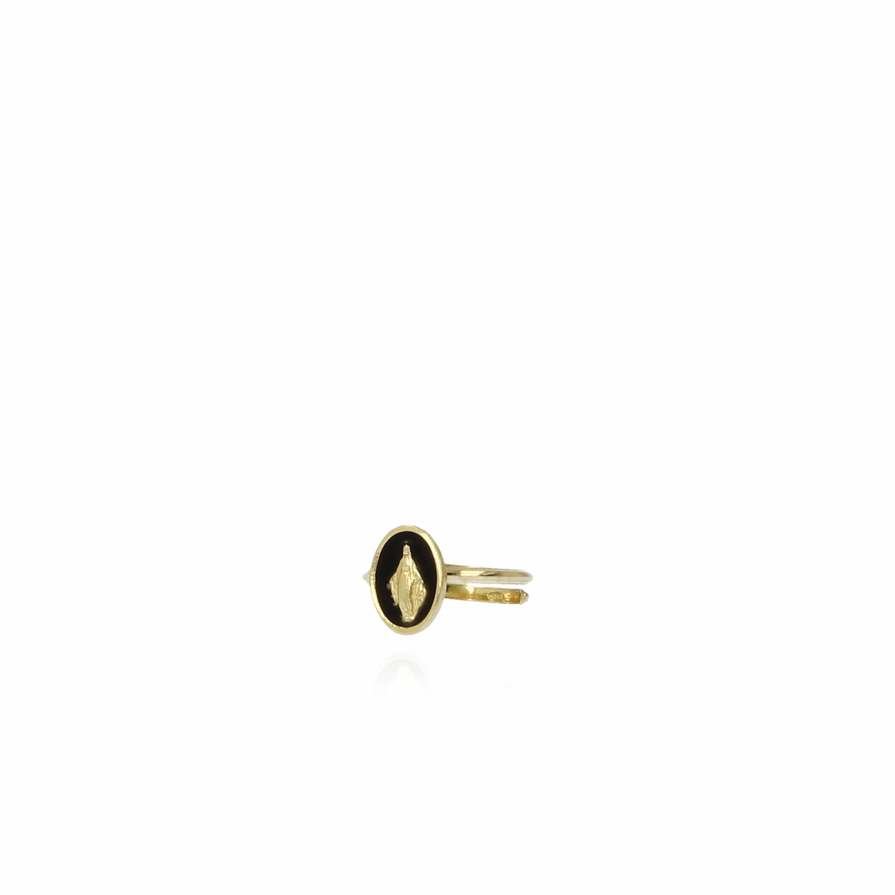 Golden Madonna black ring