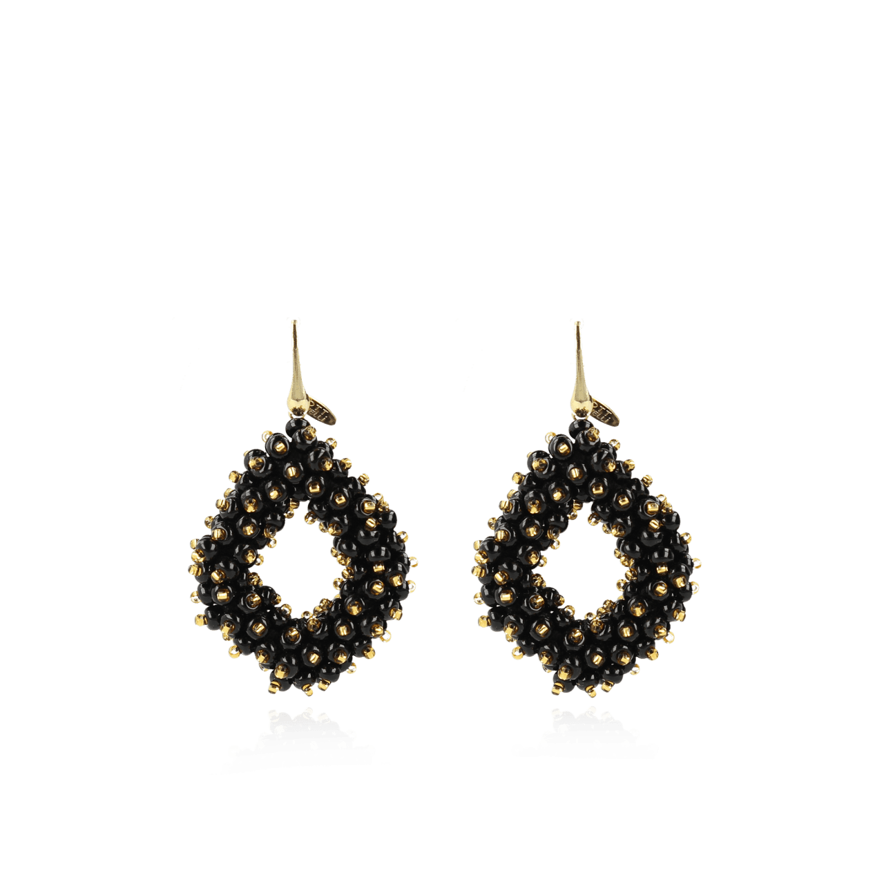 Holly Zwart Gouden Double Stones Glassberry Ace L