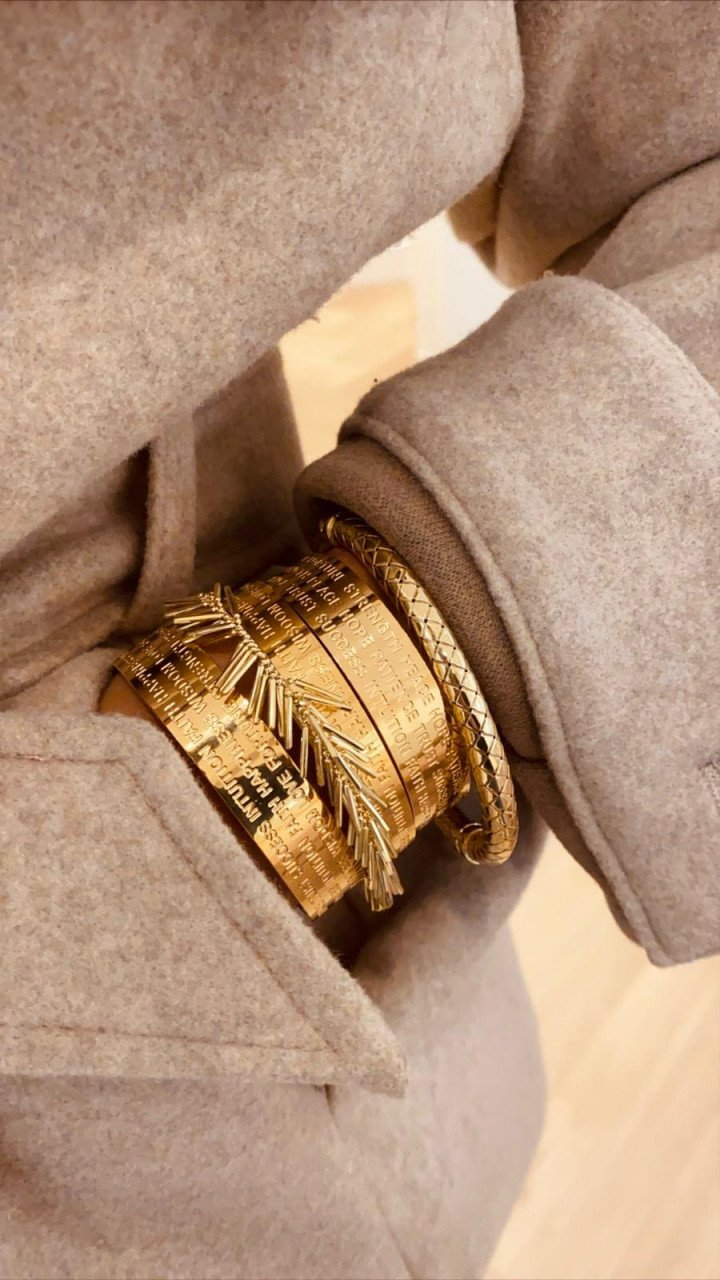 Gouden armband Quote L