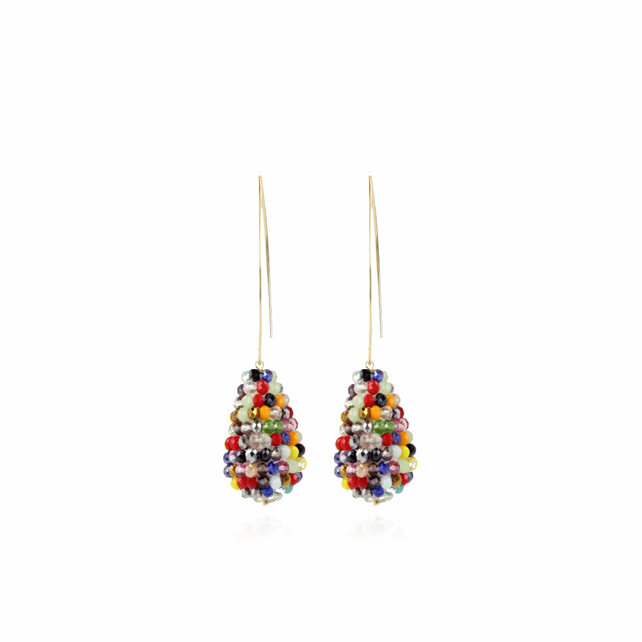 Multicolor oorbellen Beau Glassberry Cone S Dark