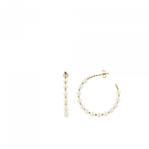 Naomi hoop pearl earrings