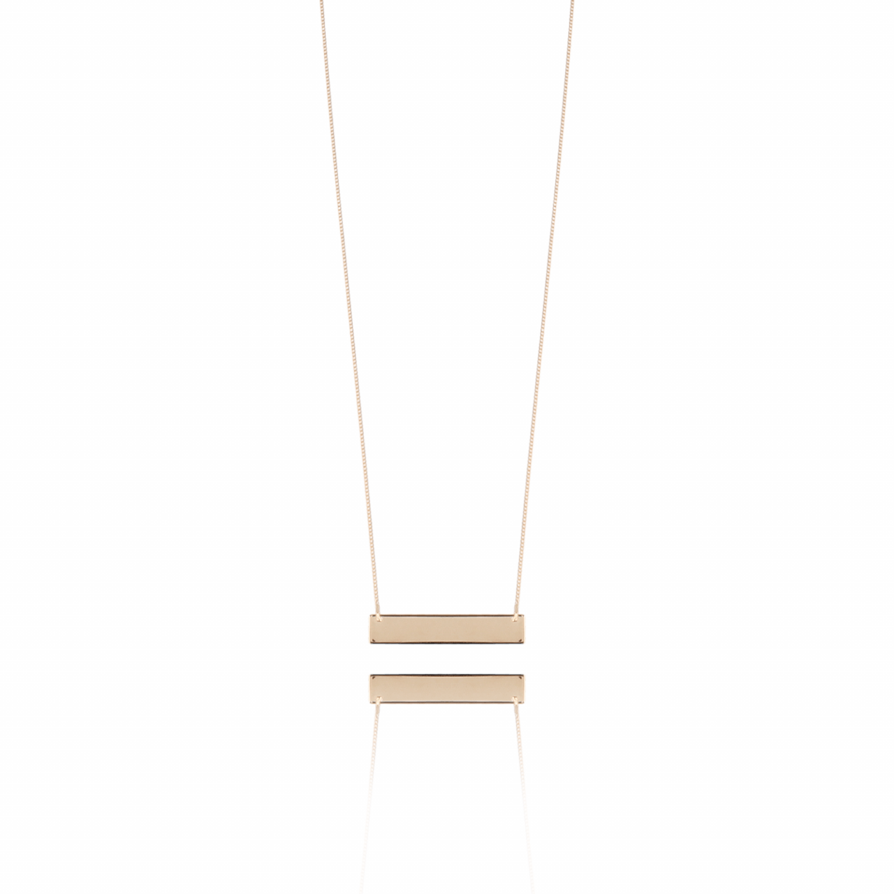 Rosé Horizontal Bar L ketting