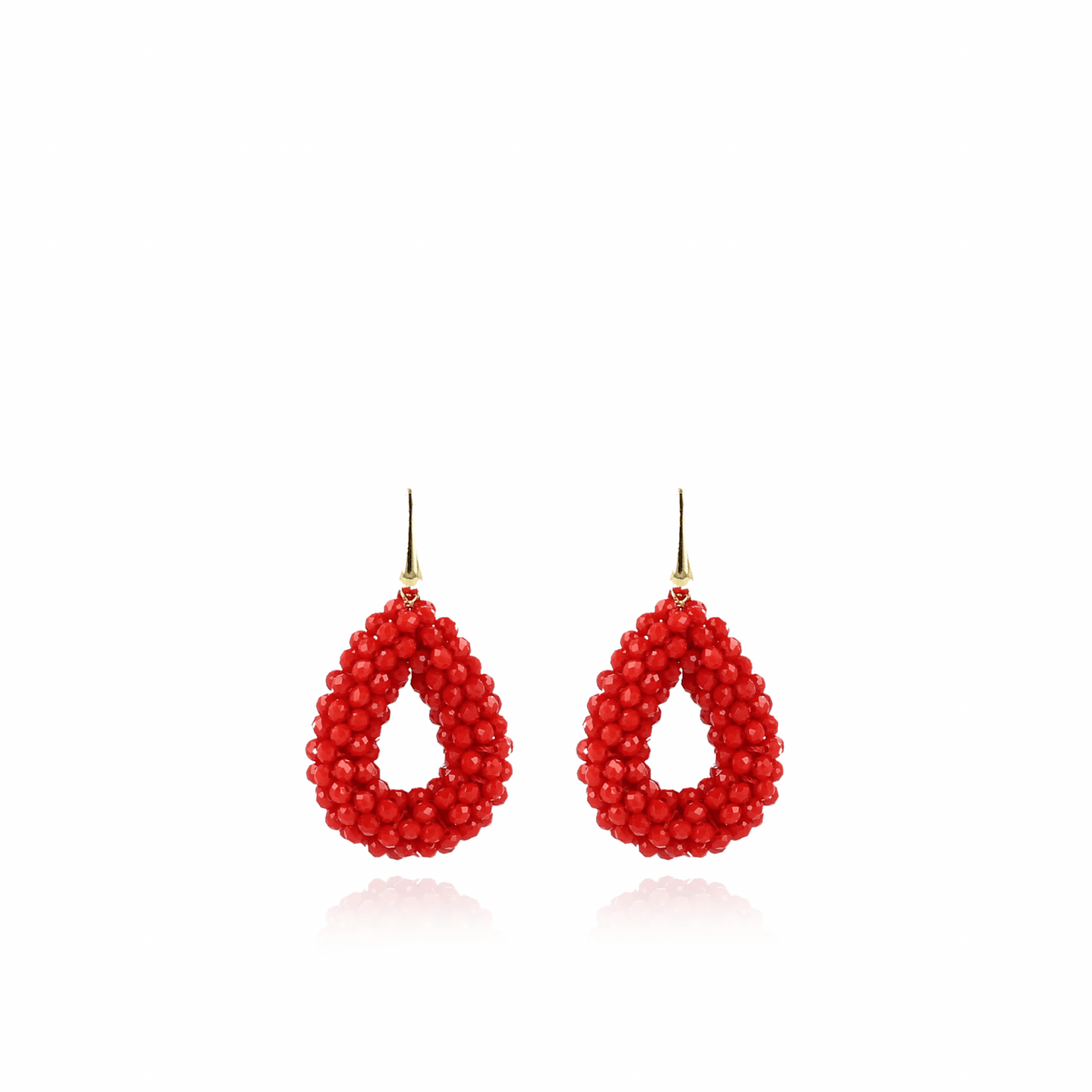 Maxi red drop glassberry S earrings