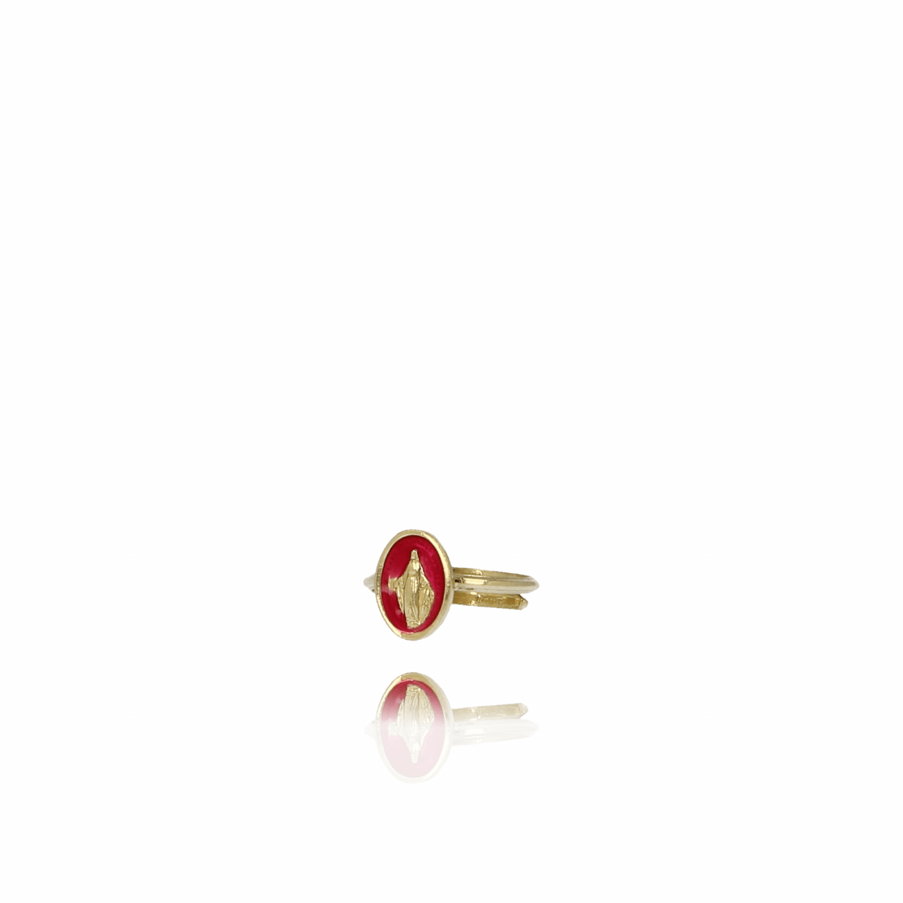 Gouden Madonna Rood ring