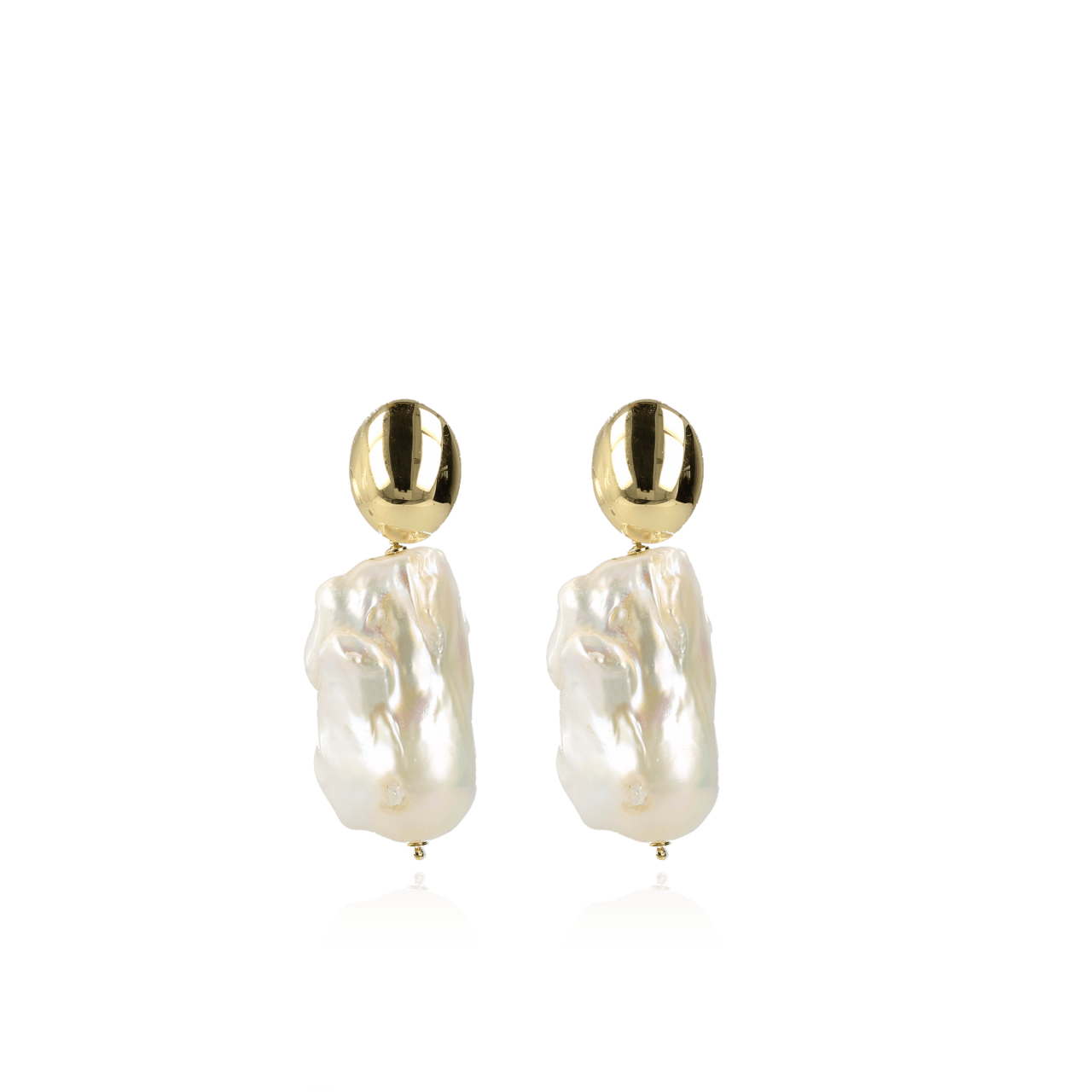 Classic wild pearl XXL earrings