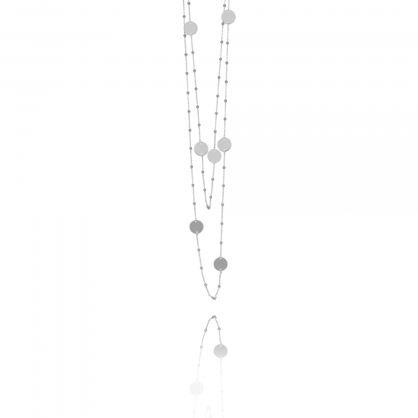 Silver 8 Globes necklace