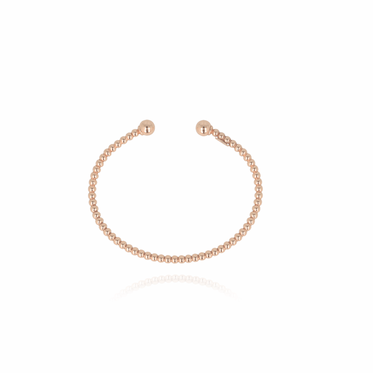 Rosé cannonball bangle