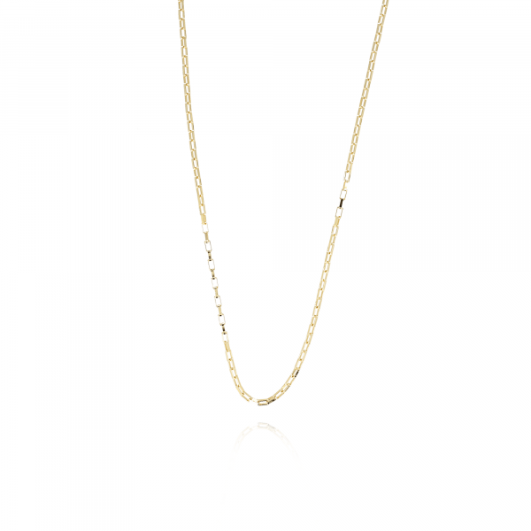 Gouden classic square closed forever XS ketting