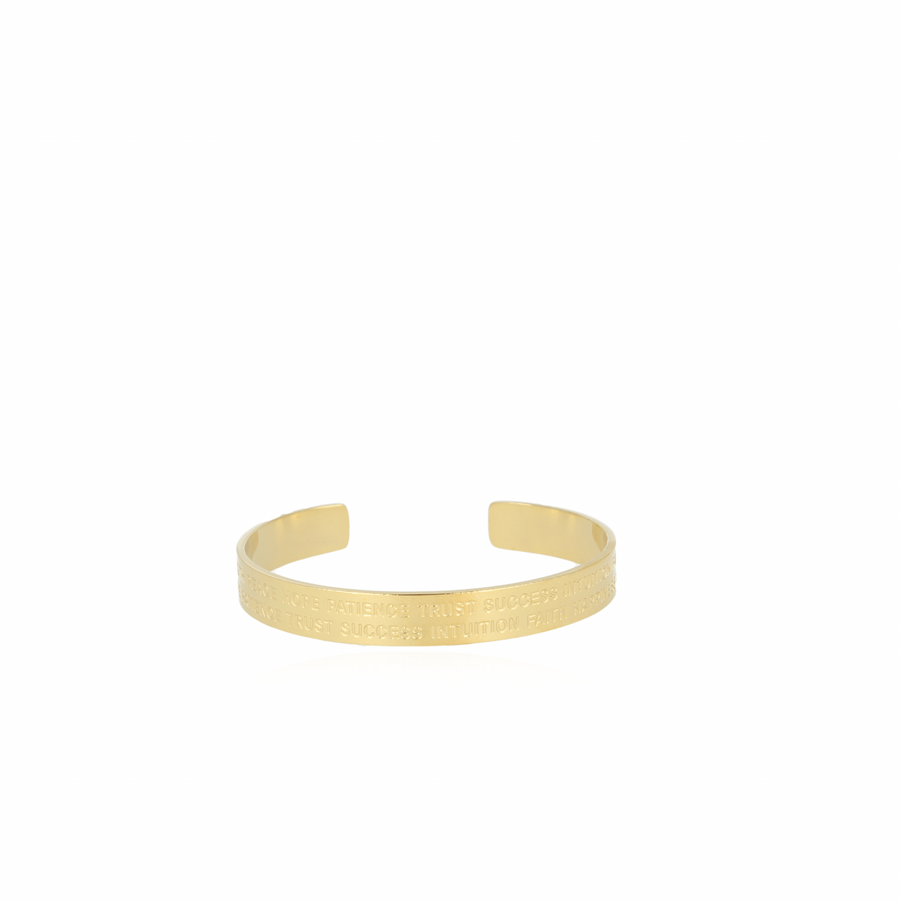 Gouden Quote M bangle