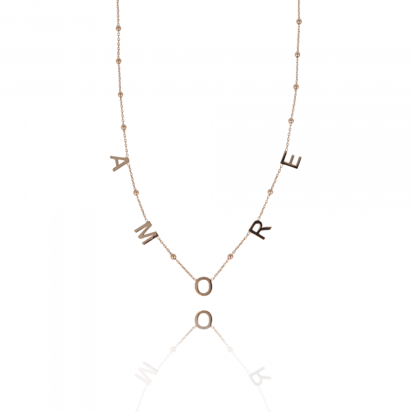 Rosé Golden Rosary Amore necklace