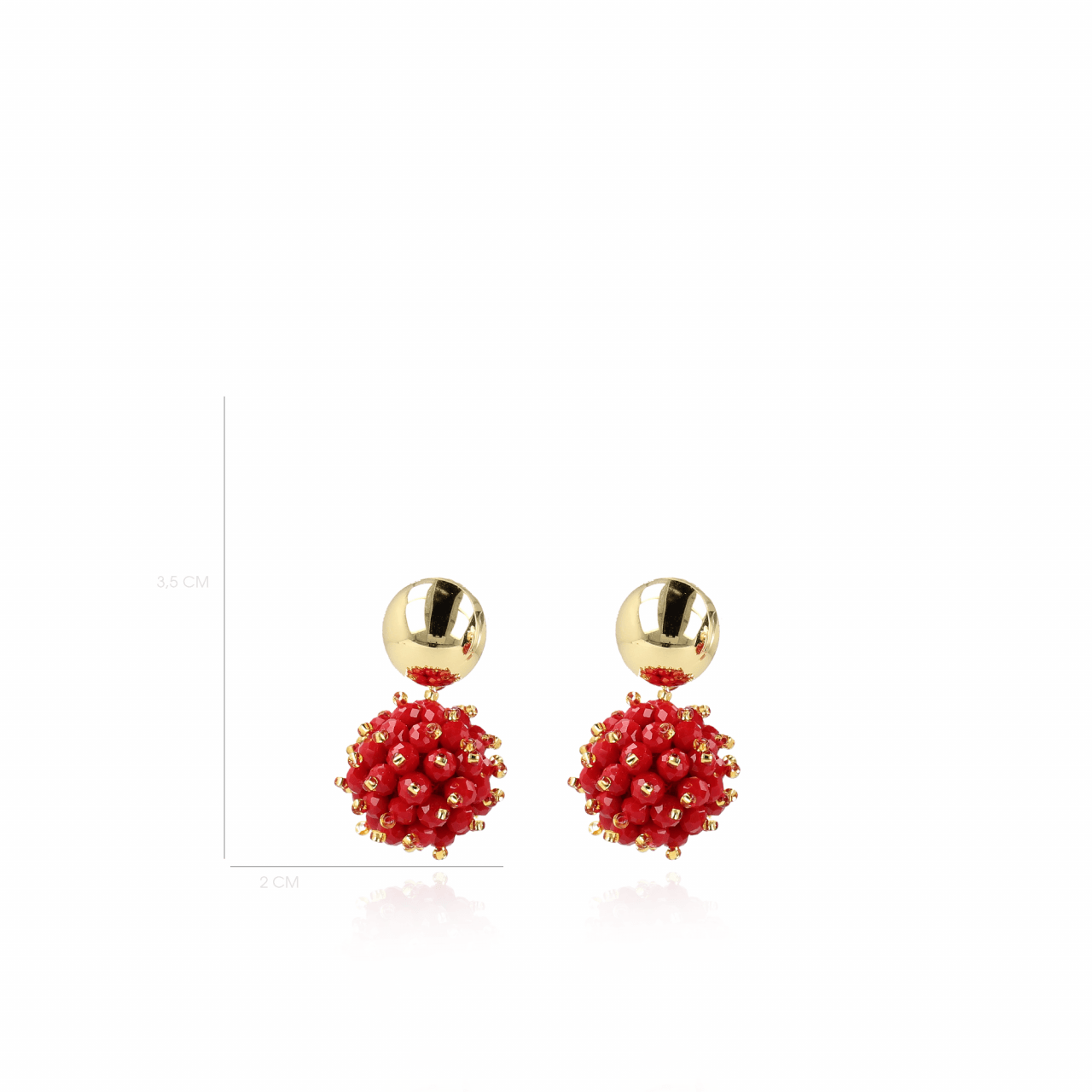 Jacky Glassberry Double Stones Globe S Red Gold